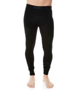 Mens Merino Wool Base Layer Pants Black