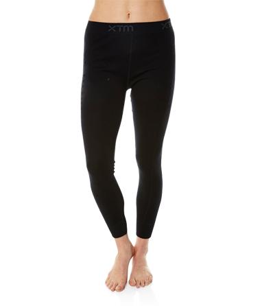 Womens Merino Wool Base Layer Pants Black