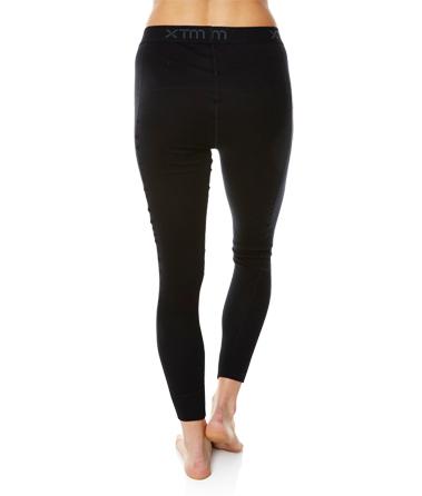 Womens Merino Wool Base Layer Pants Black Back