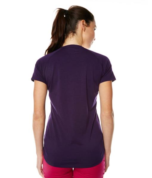 Womens Merino Wool Short Sleeve T-Shirt Blackberry