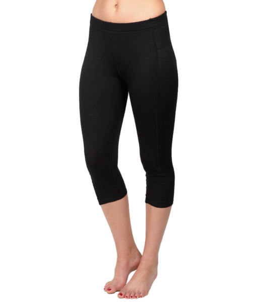 Womens Merino Wool Thermal 3/4 Pants