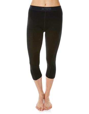 Womens Merino Wool Base Layer 3/4 Pants Black