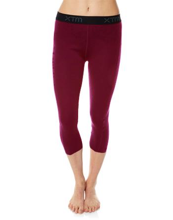 Womens Merino Wool Base Layer 3/4 Pants Boysenberry