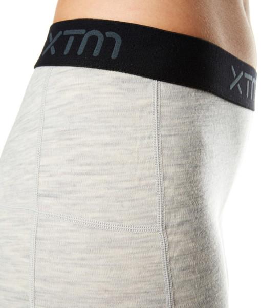 Womens Merino Wool Base Layer 3/4 Pants Light Grey Marle Detail