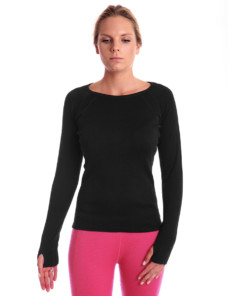 Womens Merino Wool Thermal Crew Top