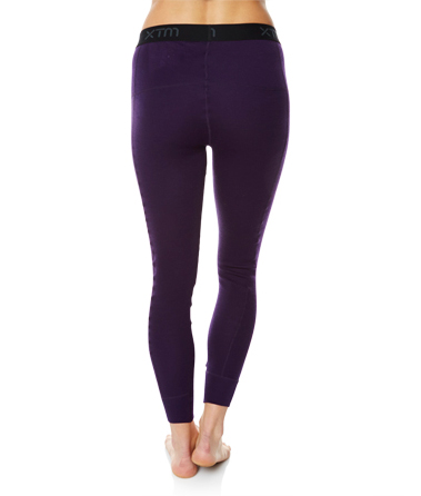 Womens Merino Wool Base Layer Pants Blackberry Back