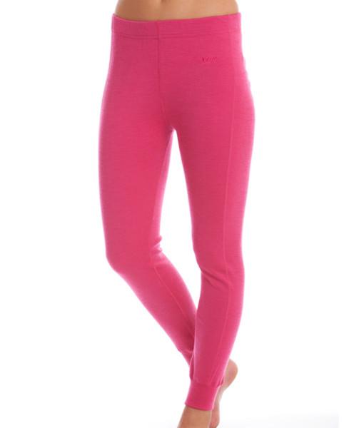 Womens Merino Wool Thermal Pants Fuchsia